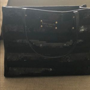 Black sequin Kate Spade purse